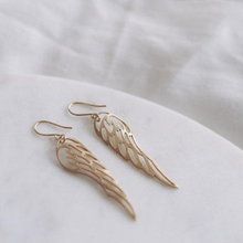 Load image into Gallery viewer, Graceful Taking Flight Wings Gold Earrings - By Finders and Makers - Papaya Lane