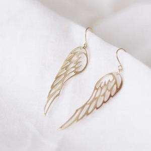 Graceful Taking Flight Wings Gold Earrings - By Finders and Makers - Papaya Lane