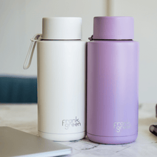 Load image into Gallery viewer, frank green Ceramic Reusable Bottle 595mL - Straw Lid - Cloud / White