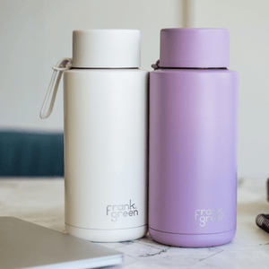frank green Ceramic Reusable Bottle 1L - Straw Lid - Lilac Haze