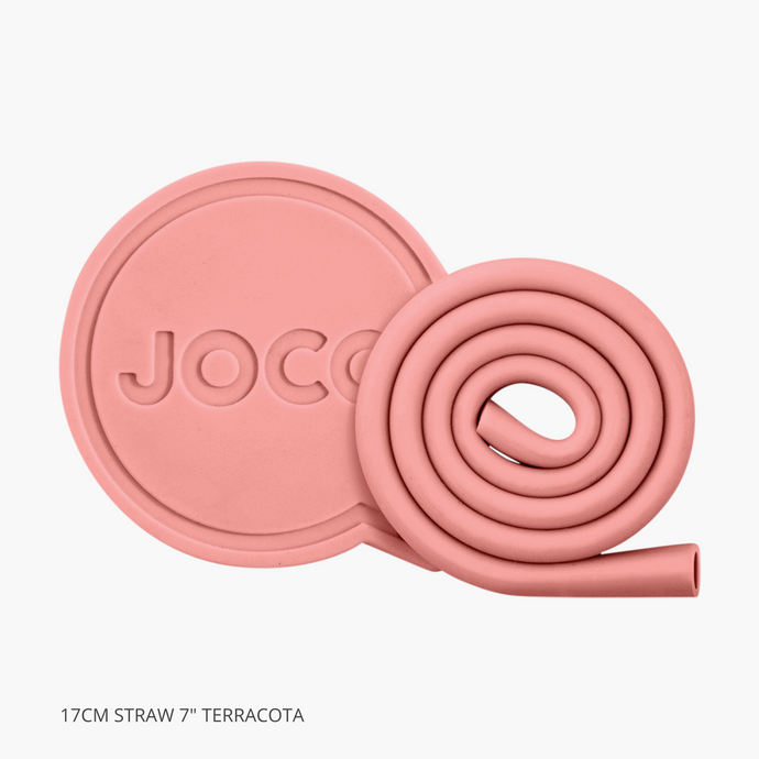 Joco Roll Reusable Straw 17cm Terracotta 7