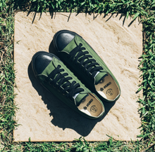 Load image into Gallery viewer, Vegan Etiko Olive Low Cut Sneakers Fairtrade
