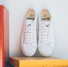 Load image into Gallery viewer, Vegan Etiko White Low Cut Sneakers Fairtrade Lifestyle Shelf