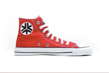 Load image into Gallery viewer, Vegan High Top Red Sneakers Organic Fairtrade - Red High top - Canvas sneakers - Papaya Lane