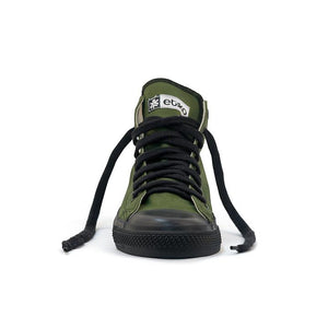 Vegan High Top Olive Sneakers Organic Fairtrade