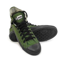 Load image into Gallery viewer, Vegan High Top Olive Sneakers Organic Fairtrade