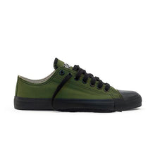 Load image into Gallery viewer, Vegan Etiko Olive Low Cut Sneakers Fairtrade Side Shot