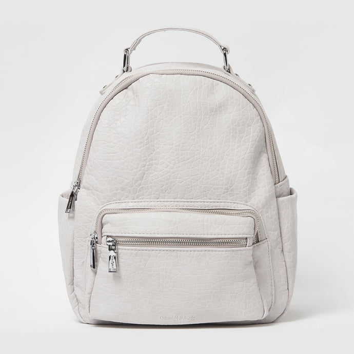 The Real Life Vegan Leather Grey Backpack - Urban Originals - Papaya Lane