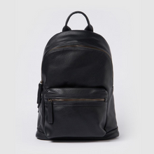 Load image into Gallery viewer, The Times Vegan Leather Black Backpack - Urban Originals