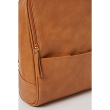 Load image into Gallery viewer, Ziggi Vegan Leather Backpack  - Tan Leather Colour backpack - Urban Originals - Papaya Lane