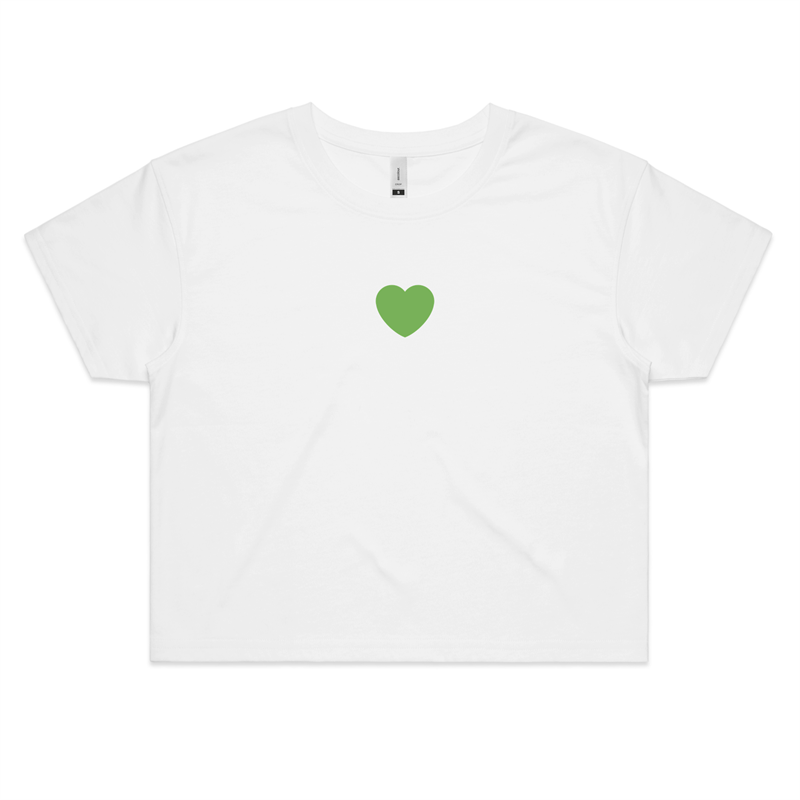 St Patricks Love Crop Top - New