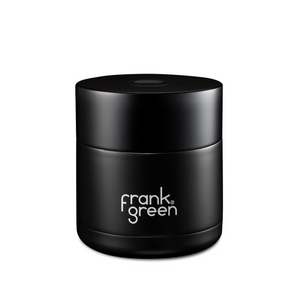 frank green Coffee Gift Box  - Black & Blushed / Pink Reusable Ceramic Cup