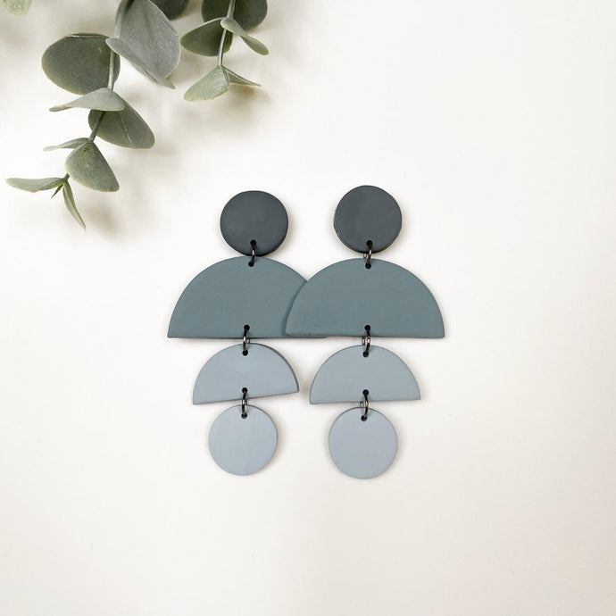 Alexandra Pale Blue Hand Made Earrings - by plnt. Interior - Papaya Lane