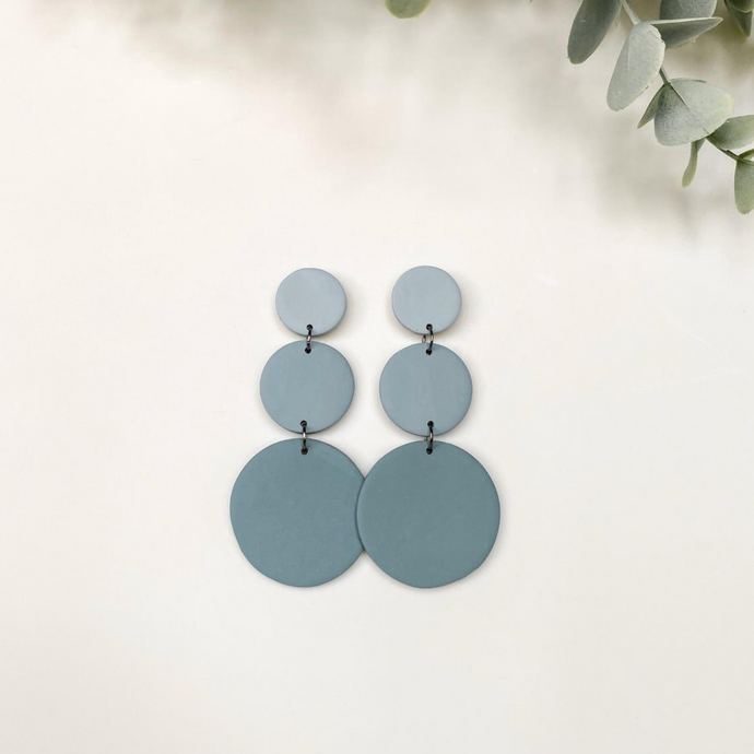 Molly Pale Blue Hand Made Earrings - by plnt. Interior - Papaya Lane