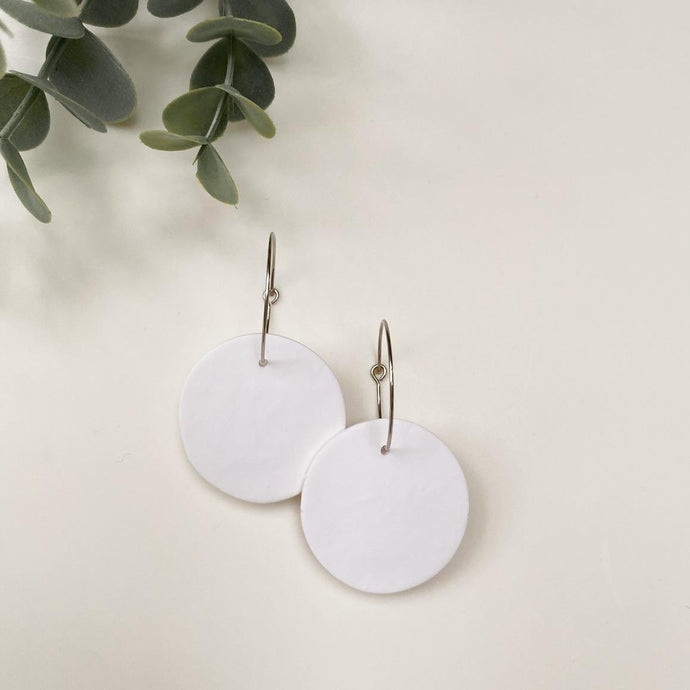 Orbella Pure White Hand Made Earrings - by plnt. Interior - Papaya Lane