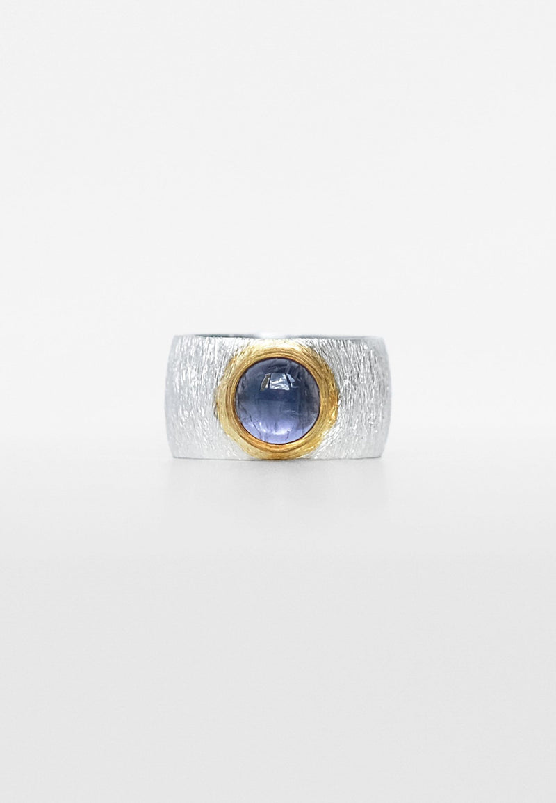 Iolite Double Silver Ring,Iolit Double Ring - Adelina1001, двойное кольцо с иолитом, серебряное кольцо с иолитом, турмалин. натуральные камни, иолит