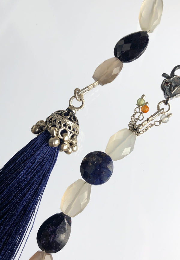 Navy Blue Tassel - adelina.world