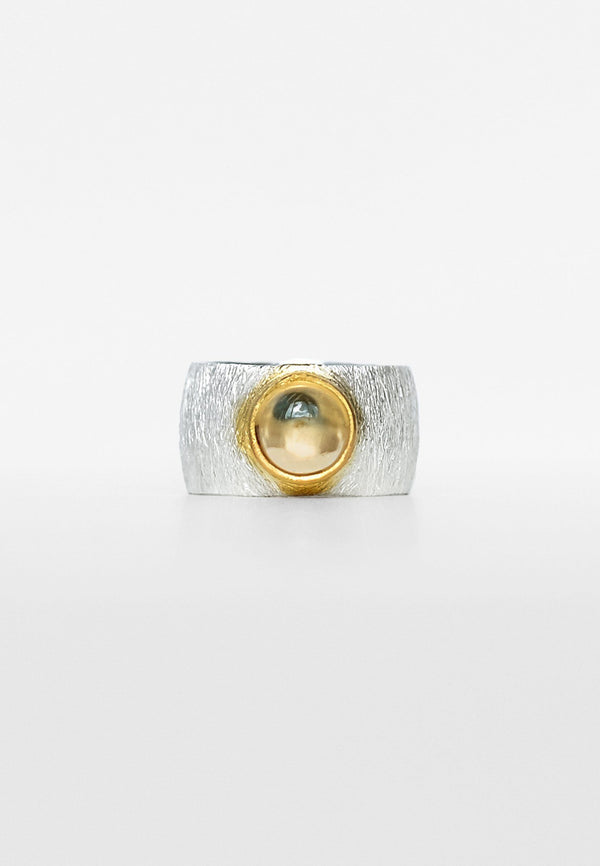 Citrine Double Ring - Adelina1001
