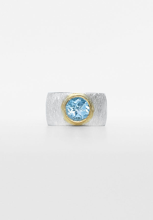 Blue Topaz Double Ring - Adelina1001