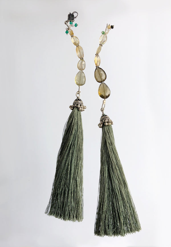 Light Green Tassel - Adelina1001