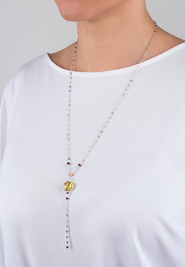 Star Chain - Adelina1001, silver, natural stones, jewelry, long chain, украшения, серебро, натуральные камни