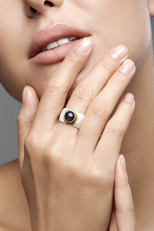 Iolite Double Ring - adelina.world