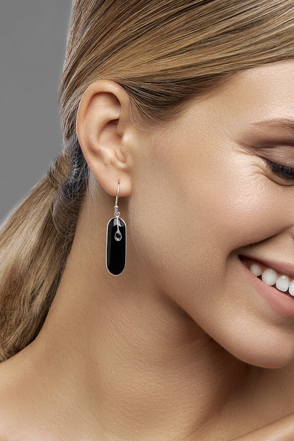 Black Brick Earrings - adelina.world