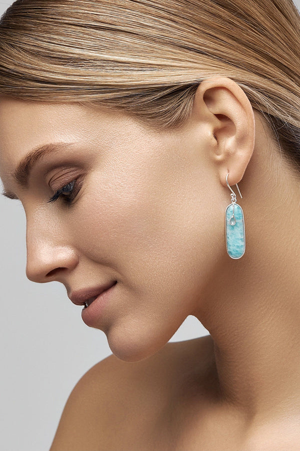 Blue Brick Earrings - adelina.world