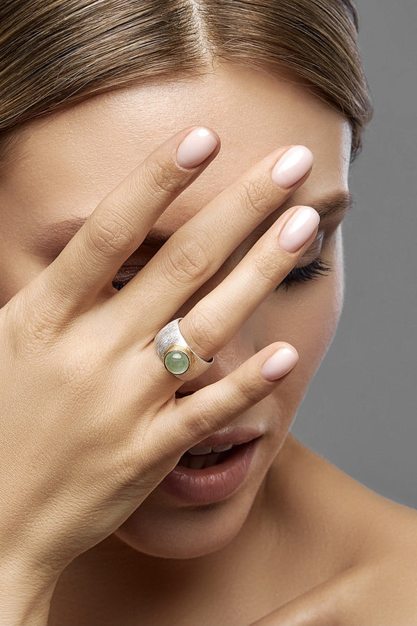 Prehnite Double Ring - adelina.world
