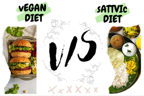 Vegan diet VS Sattvic diet.