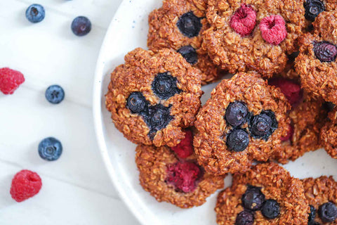 Vegan Oat and Berry Cookies