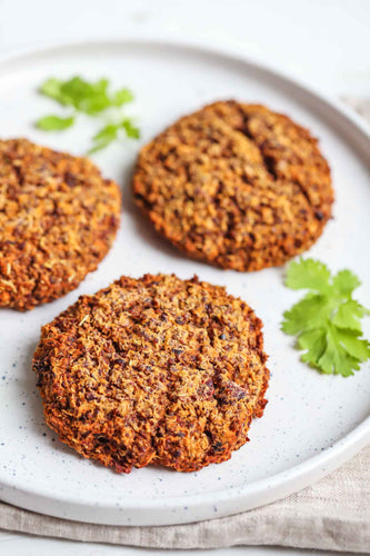 Vegan Sweet Potato Quinoa Burger | Roshni Sanghvi