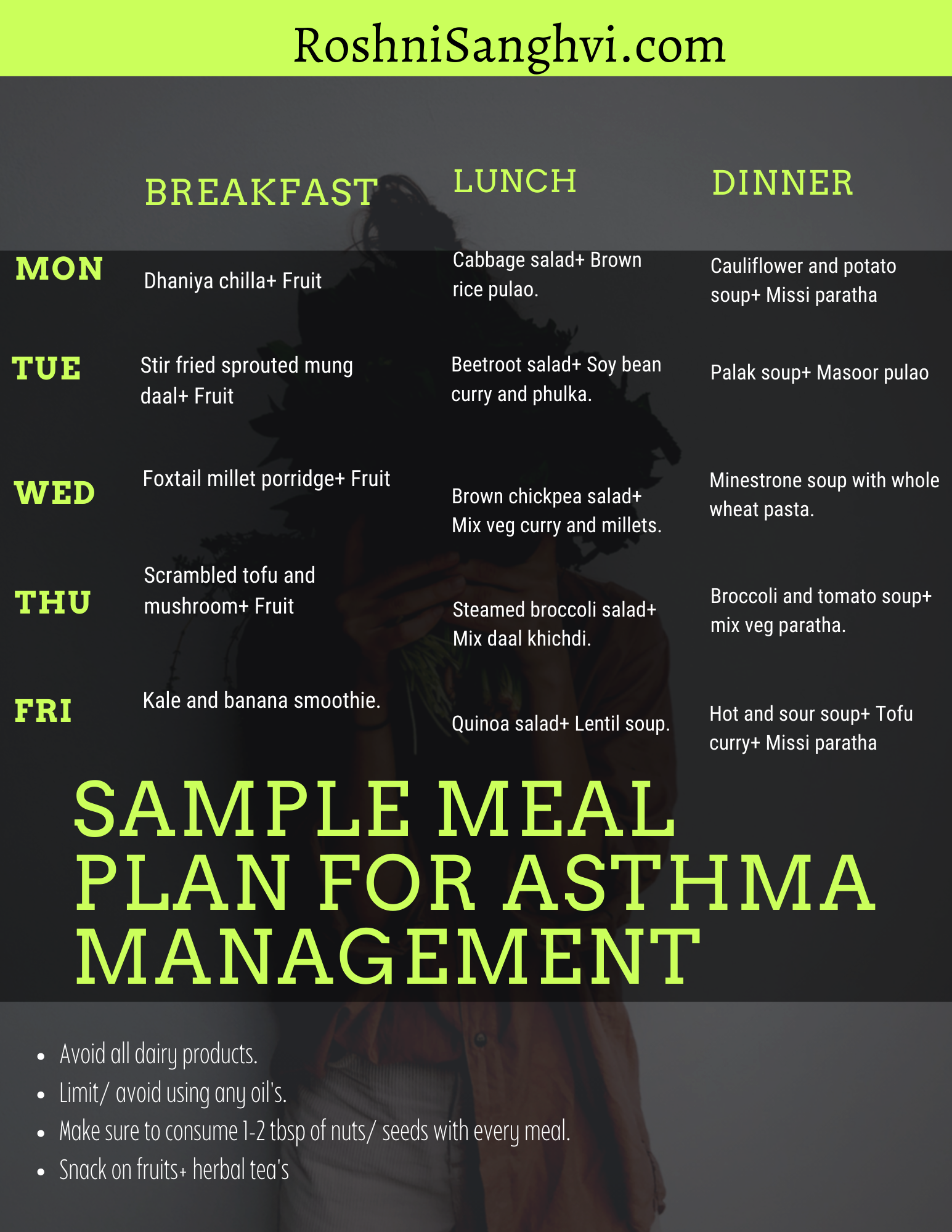 Indian Diet Chart for Asthma Patients