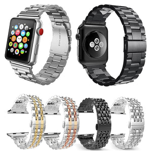 Stainless Steel Metal  44mm Apple Watch Series 5 4 3 2 1 Sport and Edition 38mm 42mm - Martin Watch co