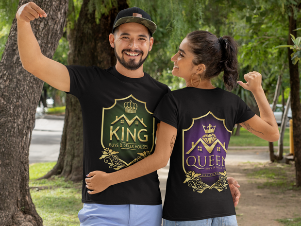 King Buys & Sells Houses Crown Gold Short-Sleeve Men T-Shirt