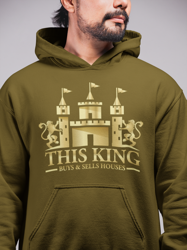 This King Buys and Sells Houses Realtor Men Hoodie