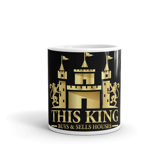 KING Realtor Wholesaler Buys and Sells Houses Style Black Mug