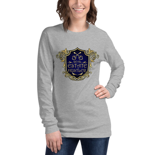Real Estate Hustler Long Sleeve Tee for Women