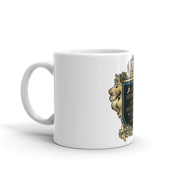 My Husband is My King white Mug