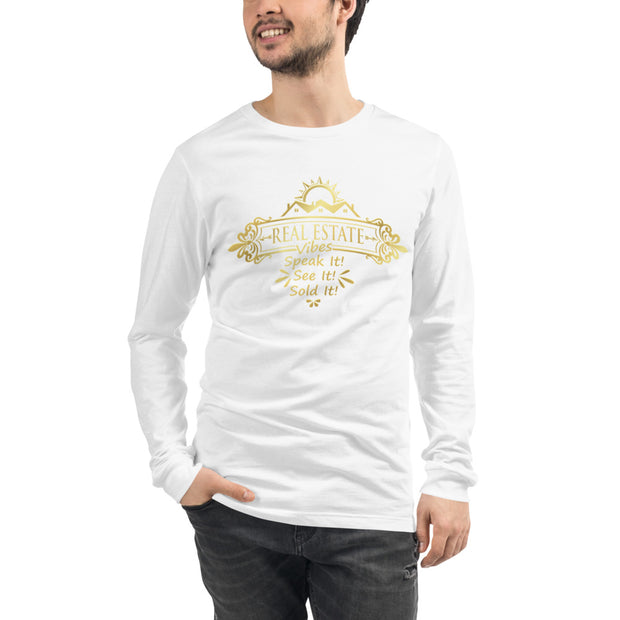 Real Estate Vibes Long Sleeve Tee for Men