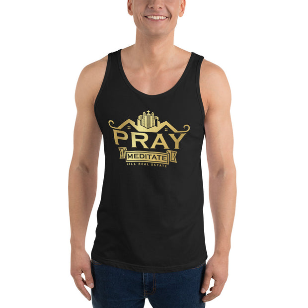 Pray Meditate Sell Real Estate Men Tank Top
