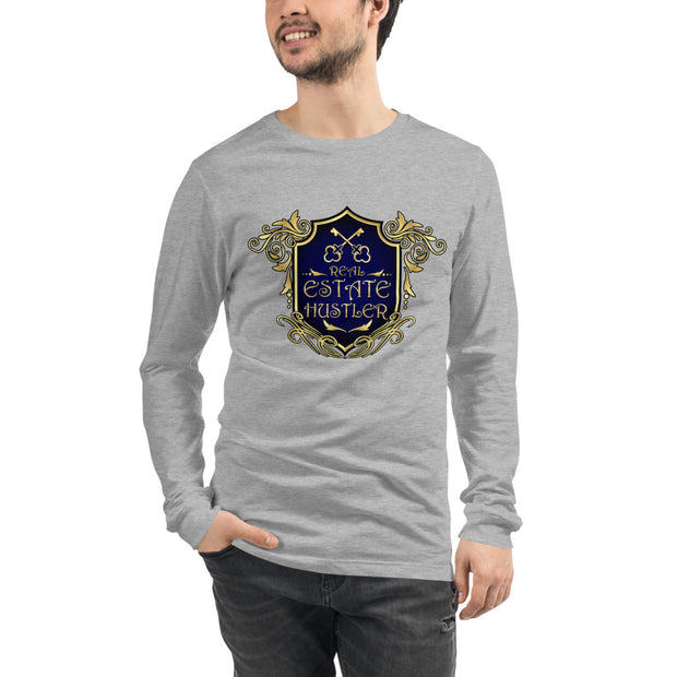 Real Estate Hustler Long Sleeve Tee For Men