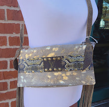 Load image into Gallery viewer, Snakeskin Upcycled Louis Vuitton Crossbody