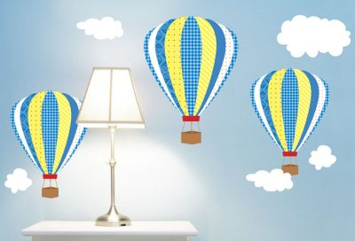Boys Hot Air Balloons - Vinyl Sticker