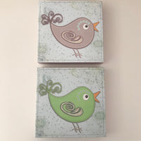 Bird Canvases - Set of 2