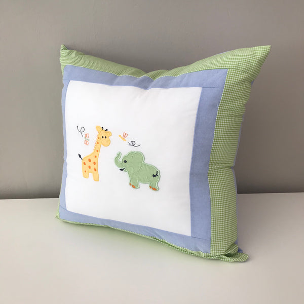 Bush Babies Scatter Cushion - Giraffe & Green Ellie