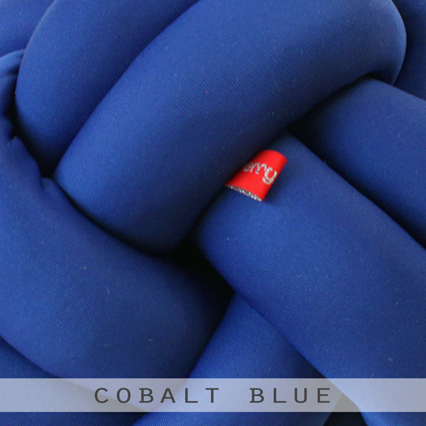 Cobalt Blue Knot Cushion