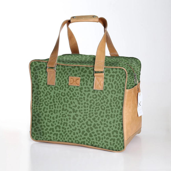 Cheetah Olive - Laminated Weekender Bag