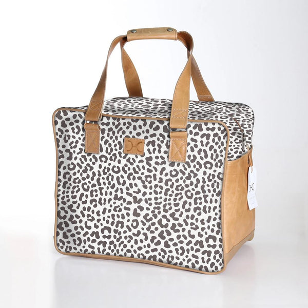 Cheetah White - Laminated Weekender Bag