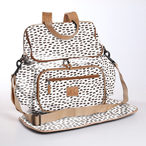 Seeds White - Laminated Nappy Backpack